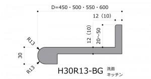 H30R13-BG前垂Rバックガード付