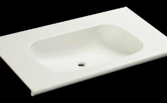人工大理石洗面器一体カウンターBHS-101A-1EK