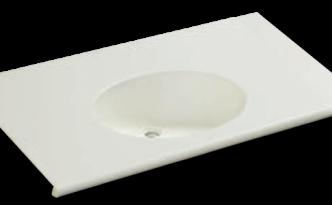 人工大理石洗面器一体カウンター BHS-105A-1EK